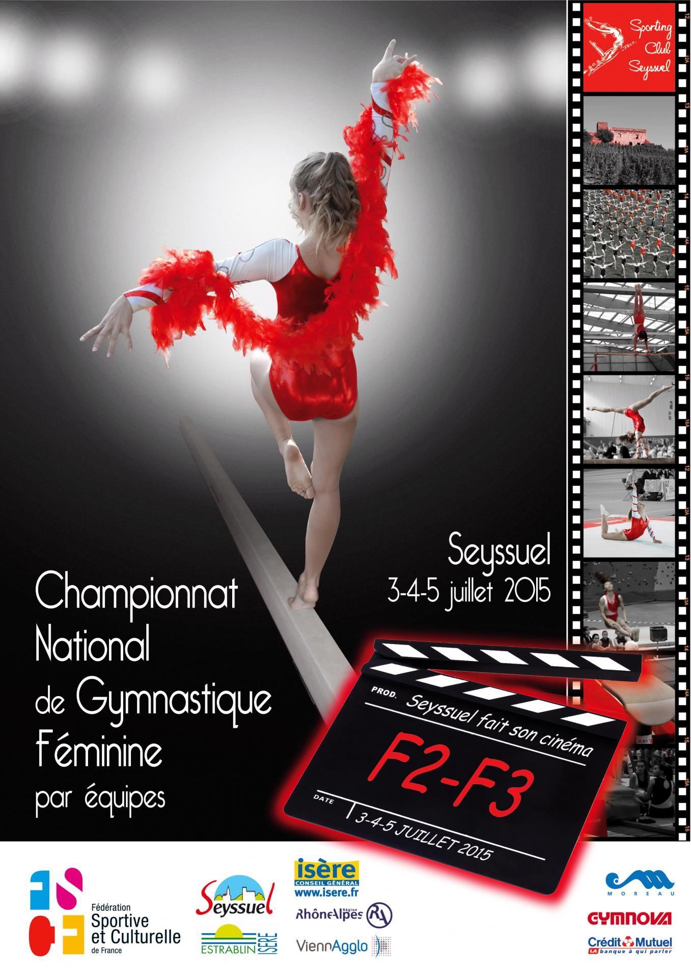 Championnat national de gymnastique feminine par equipes
