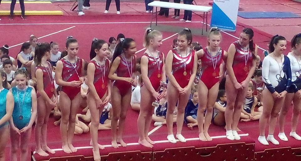 Concours departemental de gymnastique feminine