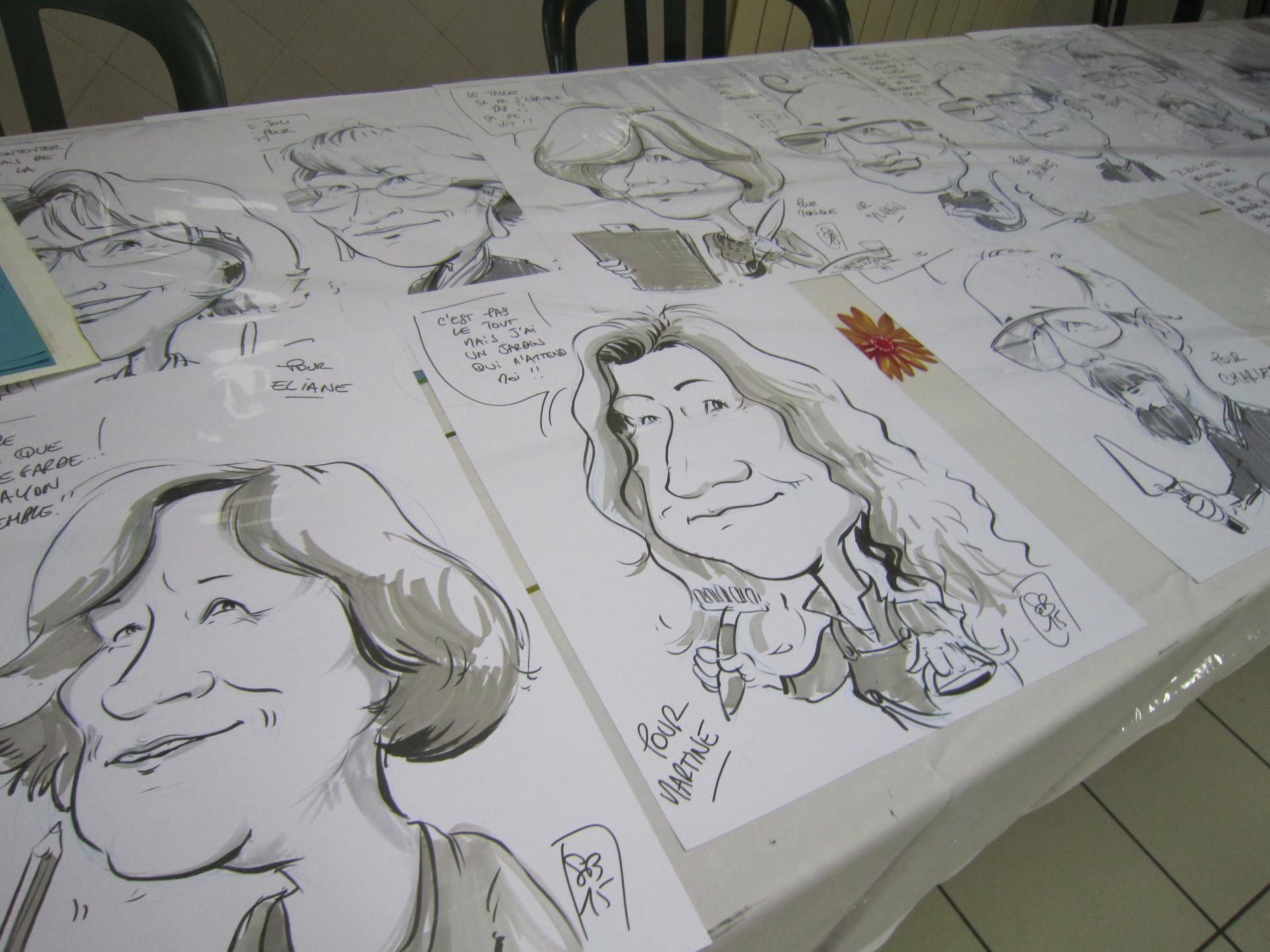 Les caricatures de claudine paccaud