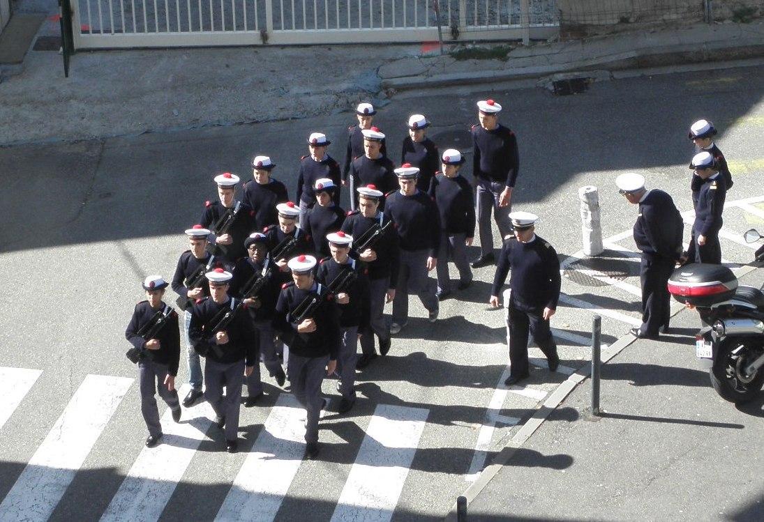 Les stagiaires de la preparation militaire marine