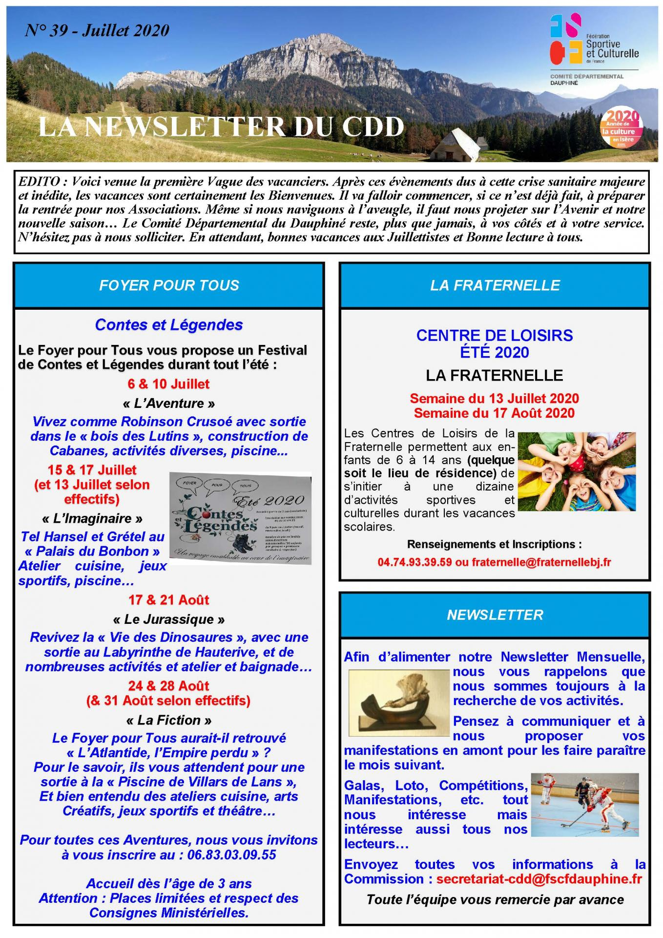 Newsletter n39 page 1