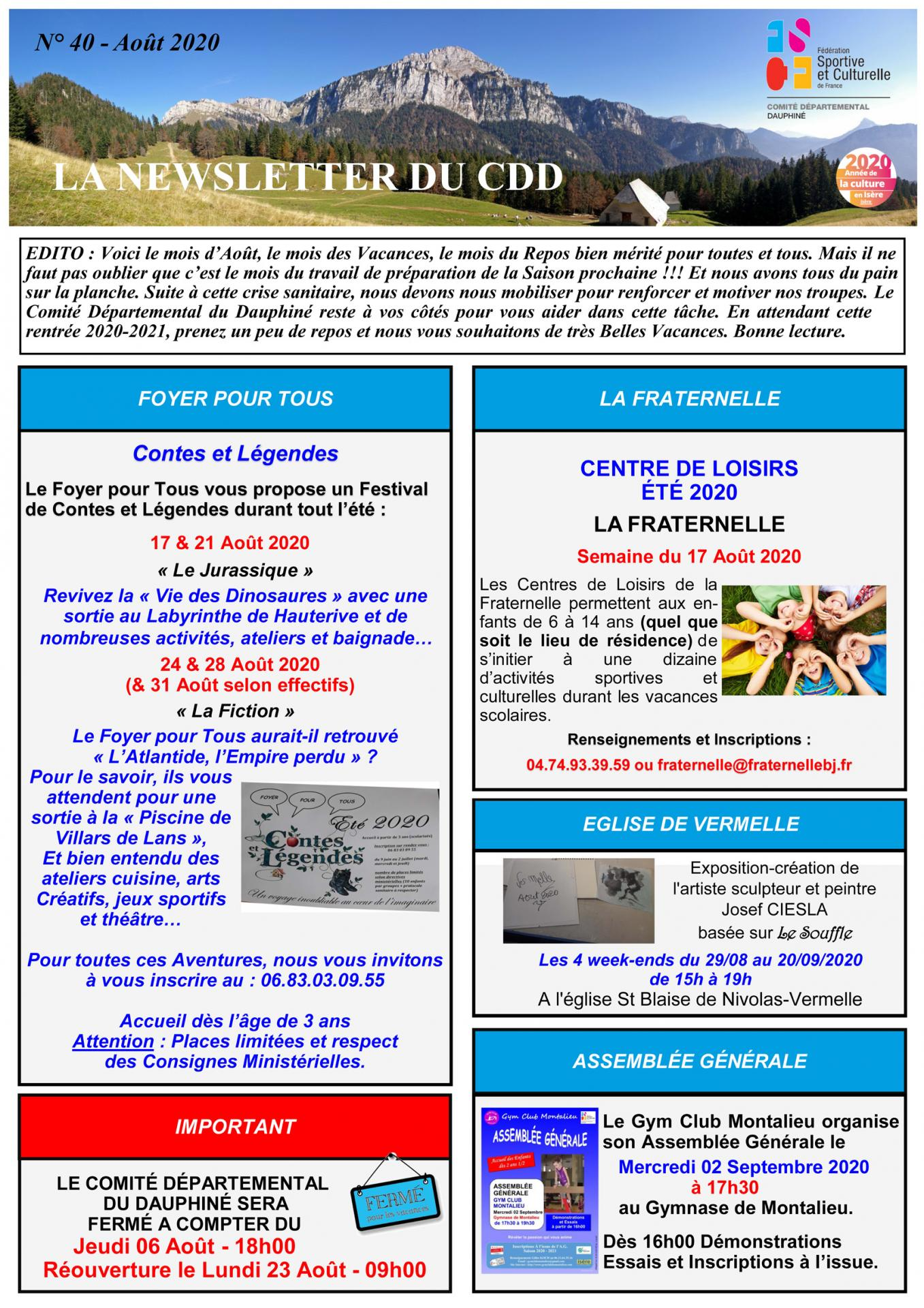 Newsletter n40 page 1