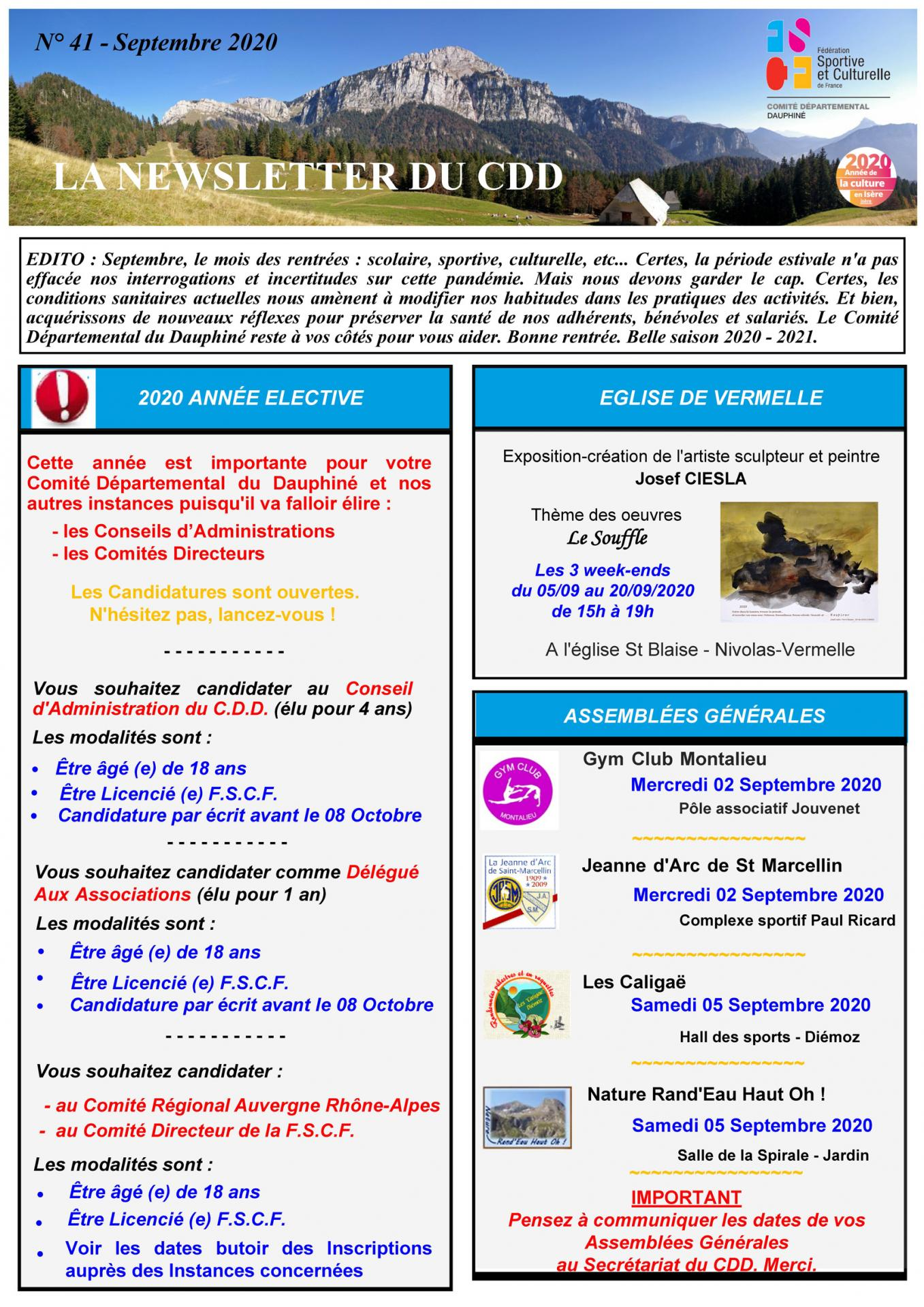 Newsletter n41 page 1