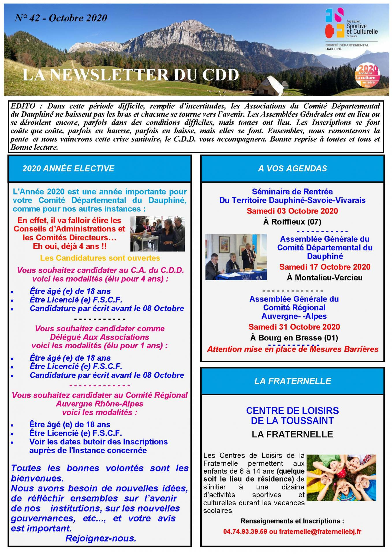 Newsletter n42 page 1