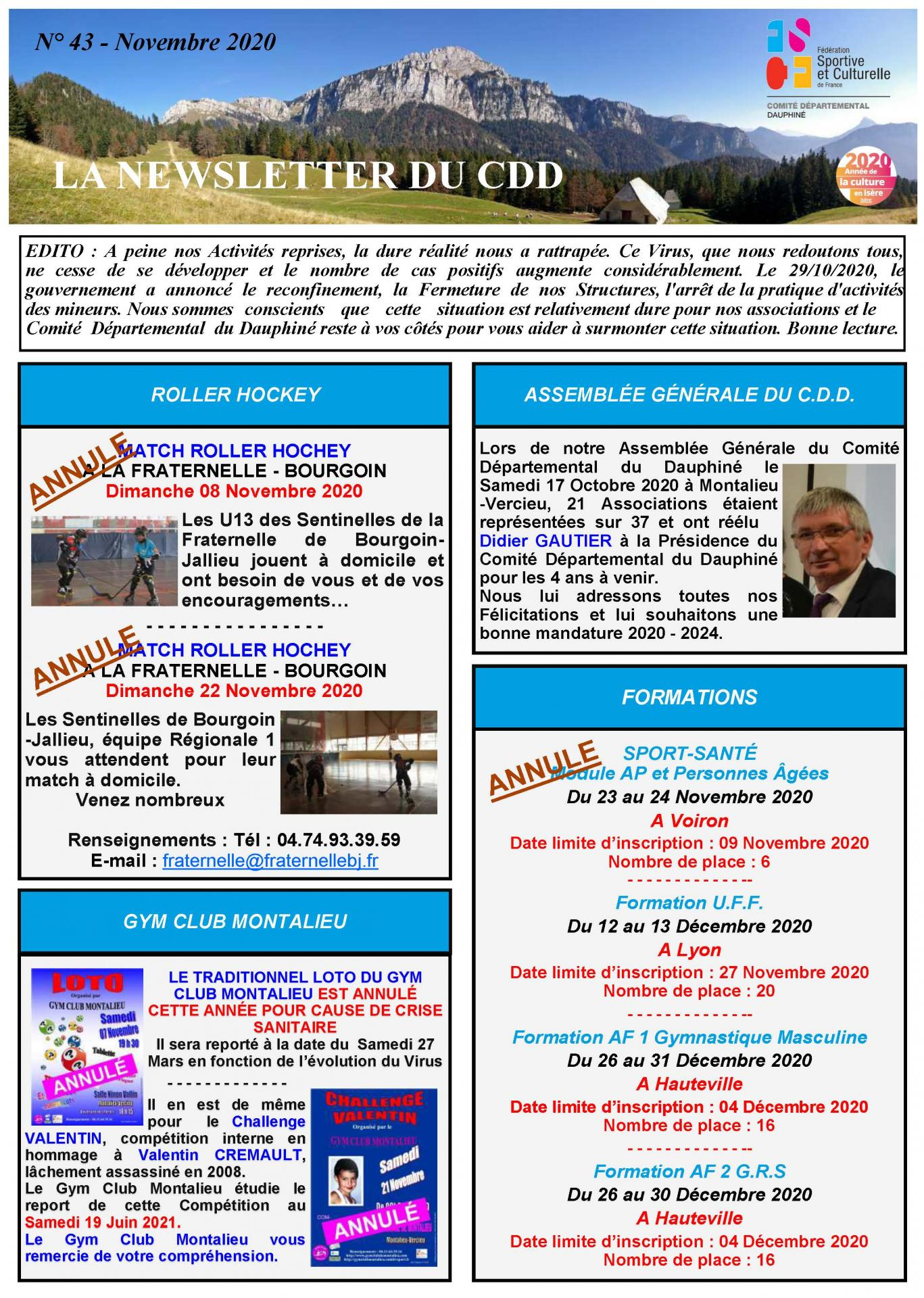 Newsletter n43 page 1