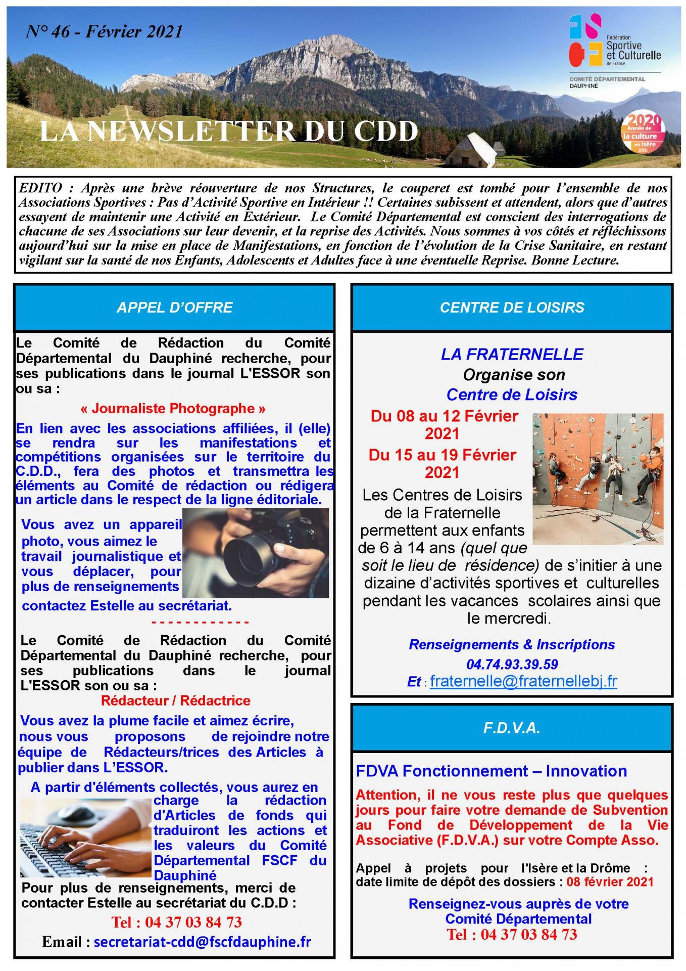 Newsletter n46 page 1