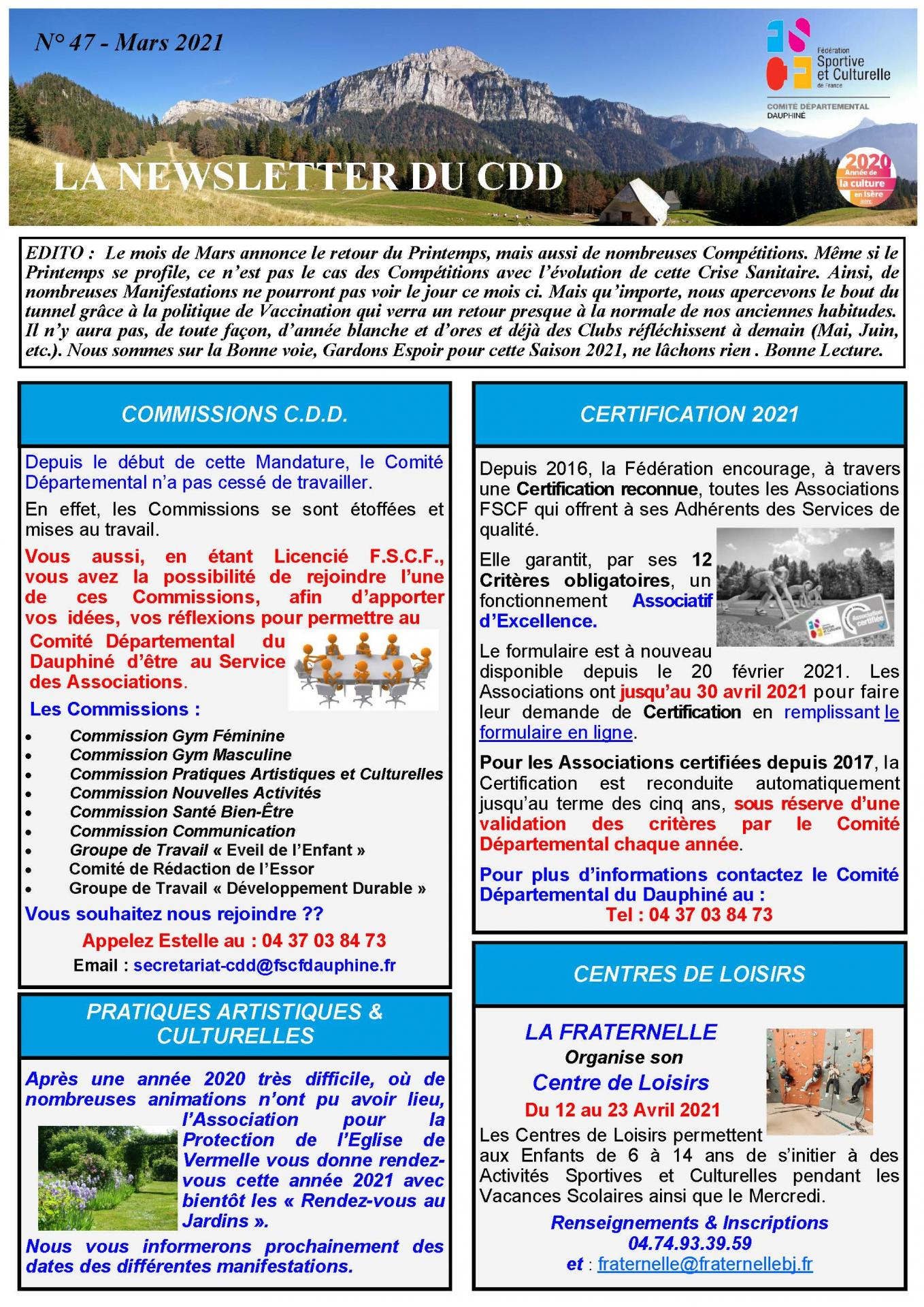 Newsletter n47 page 1