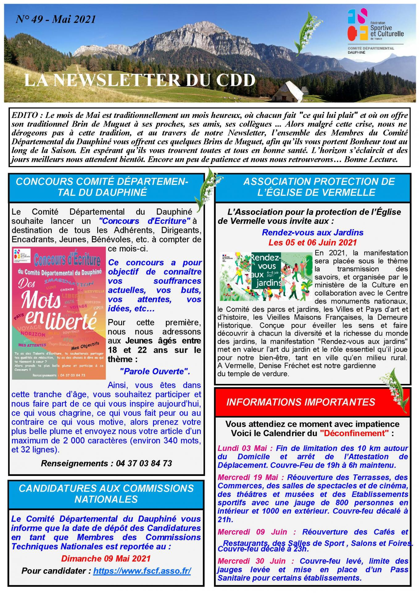 Newsletter n49 page 1