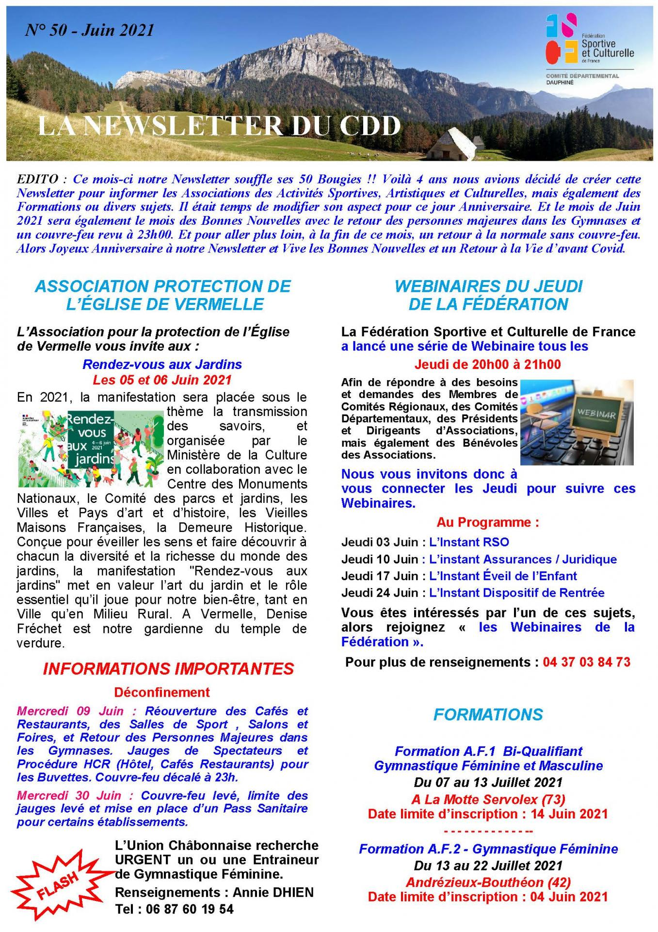 Newsletter n50 page 1