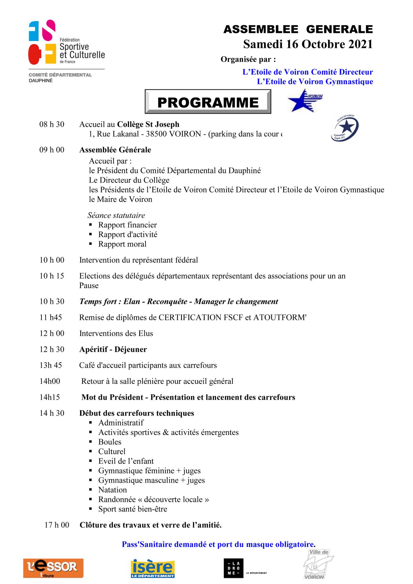 Programme ag 2021